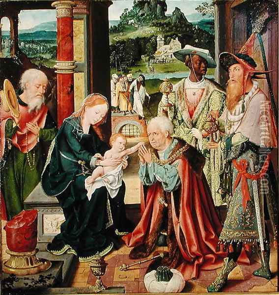 The Adoration of the Magi Oil Painting - Joos Van Cleve