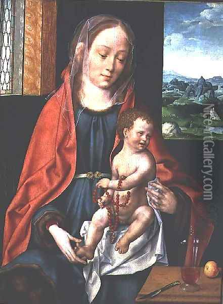 Virgin and Child, 1530 Oil Painting - Joos Van Cleve