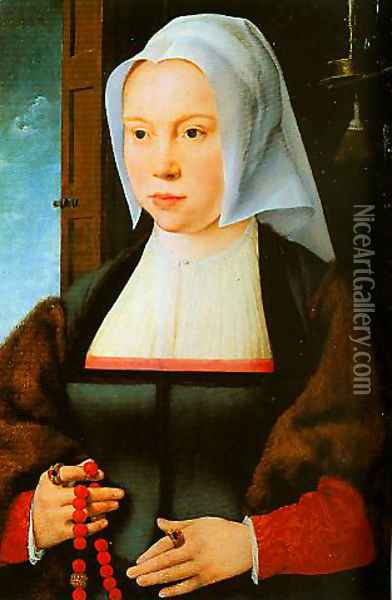 Portrait of a Woman Oil Painting - Joos Van Cleve