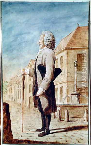 Ducan, tailor from Villers-Cotterets, 1770 Oil Painting - Louis Carrogis Carmontelle