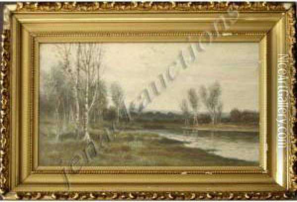 Landscape With Birches Oil Painting - George Howell Gay