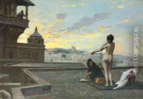 Bethsabee Oil Painting - Jean-Leon Gerome