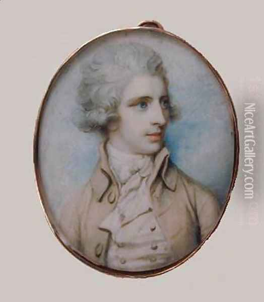 A Gentleman c. 1790 Oil Painting - Richard Cosway