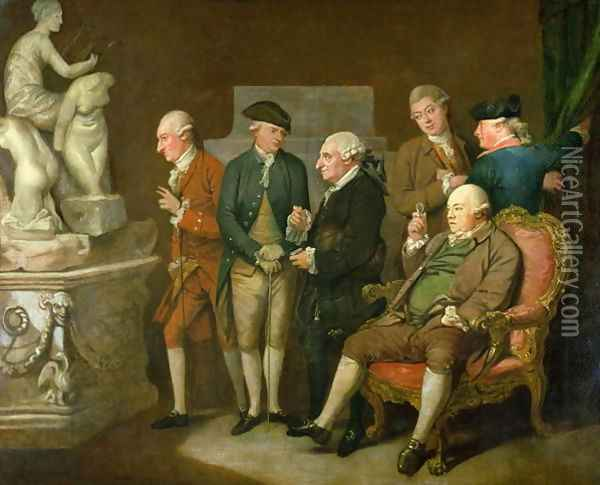 Group of Connoisseurs Oil Painting - Richard Cosway