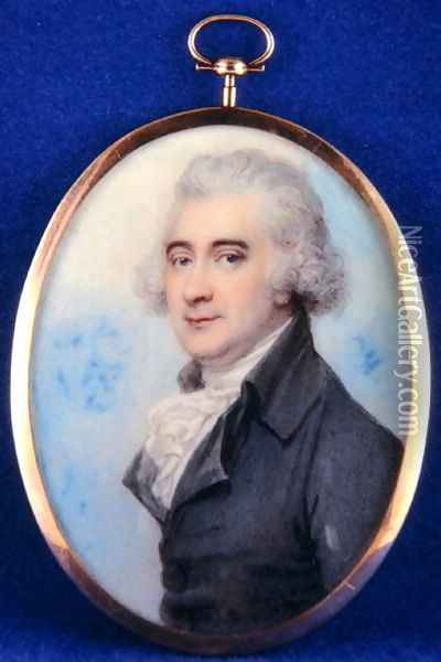 Portrait of James Hope (1741-1816) 3rd Earl of Hopetoun, 1789 Oil Painting - Richard Cosway