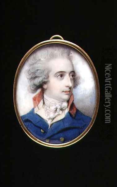 Portrait miniature of Major General William, The Viscount Fielding, c.1790 Oil Painting - Richard Cosway