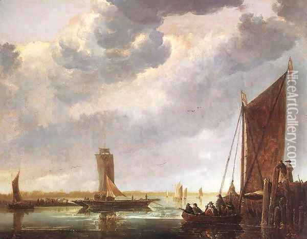 The Ferry Boat 1652-55 Oil Painting - Aelbert Cuyp