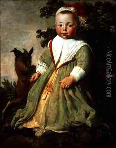 Portrait of a Child Aged Two Oil Painting - Aelbert Cuyp
