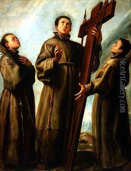 The Franciscan Martyrs in Japan Oil Painting - Juan Carreno De Miranda