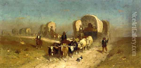Westward Ho: Study for Ships of the Plains Oil Painting - Samuel Colman