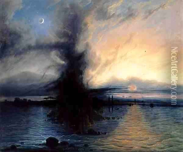 The Rock of Salvation, 1837 Oil Painting - Samuel Colman