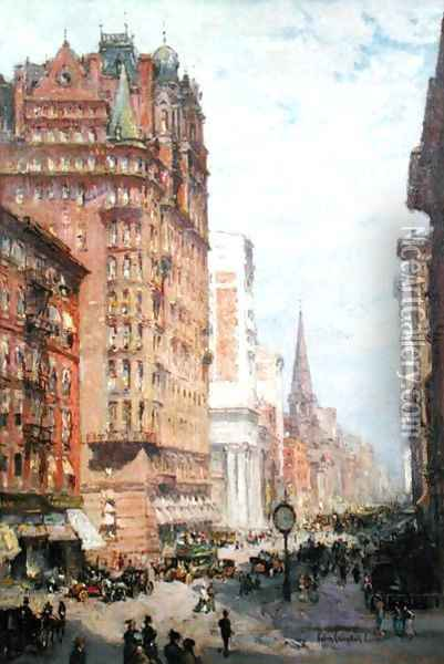 Fifth Avenue New York City, 1906 Oil Painting - Colin Campbell Cooper