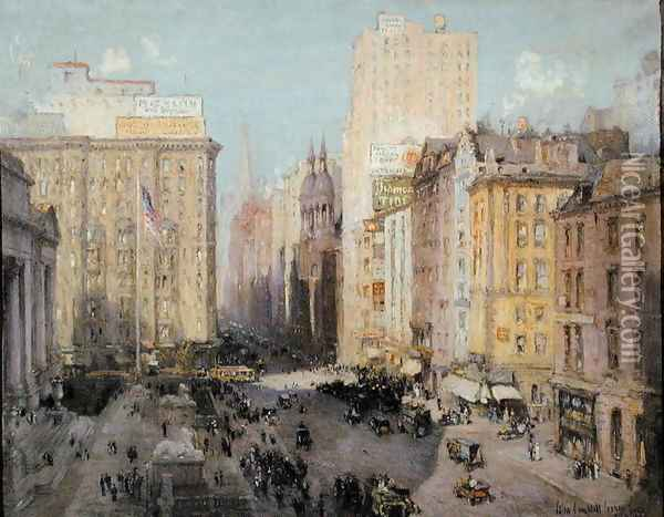 Fifth Avenue, New York, 1913 Oil Painting - Colin Campbell Cooper