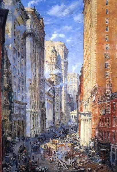 Broad Street Canyon, New York Oil Painting - Colin Campbell Cooper