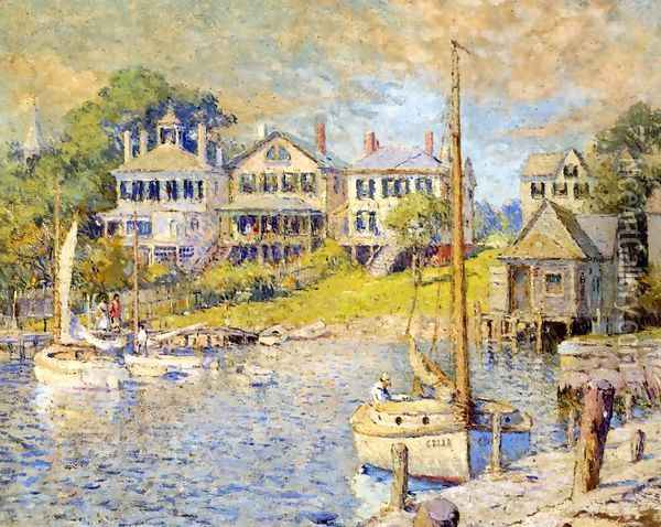 At Edgartown, Martha's Vinyard Oil Painting - Colin Campbell Cooper