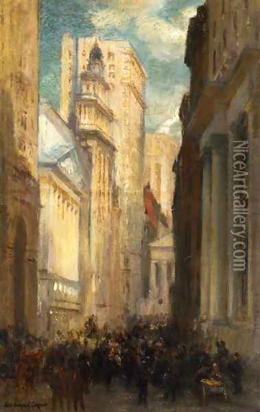 Wall Street Oil Painting - Colin Campbell Cooper