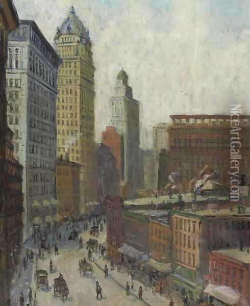 Lower Broadway Oil Painting - Colin Campbell Cooper