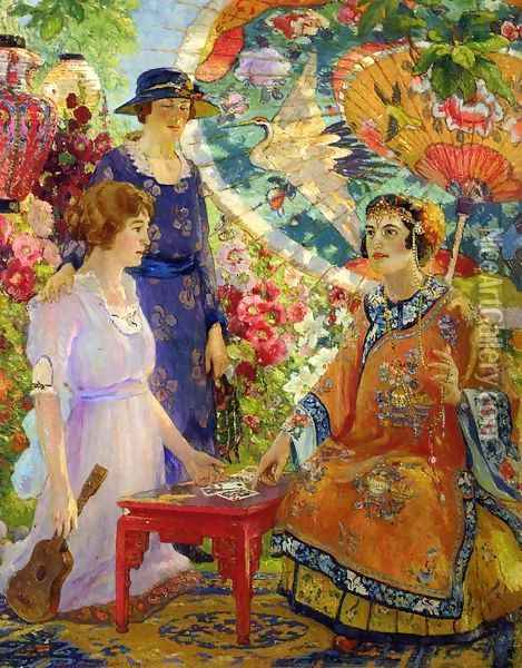 Fortune Teller Oil Painting - Colin Campbell Cooper