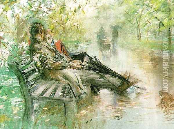 Early Spring in Central Park Oil Painting - Paul Cornoyer
