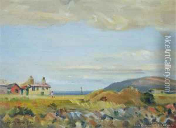 Smokehouse, Fisherman's Bay Oil Painting - William Menzies Gibb