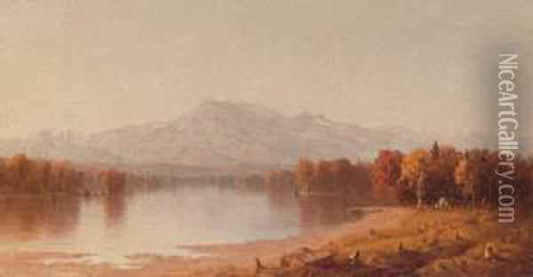 Moat Mountain, New Hampshire Oil Painting - Sanford Robinson Gifford