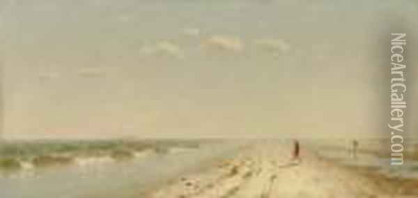 Fire Island Beach Oil Painting - Sanford Robinson Gifford