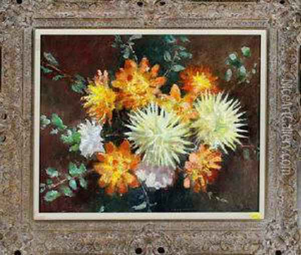 A Spray Of Flowers Oil Painting - John William Gilroy