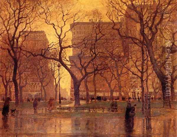 After the Rain Oil Painting - Paul Cornoyer