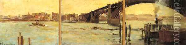 A View of St. Louis: A Triptych Oil Painting - Paul Cornoyer