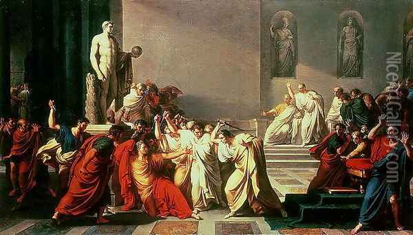 Death of Julius Caesar (100-44 BC) Oil Painting - Vincenzo Camuccini