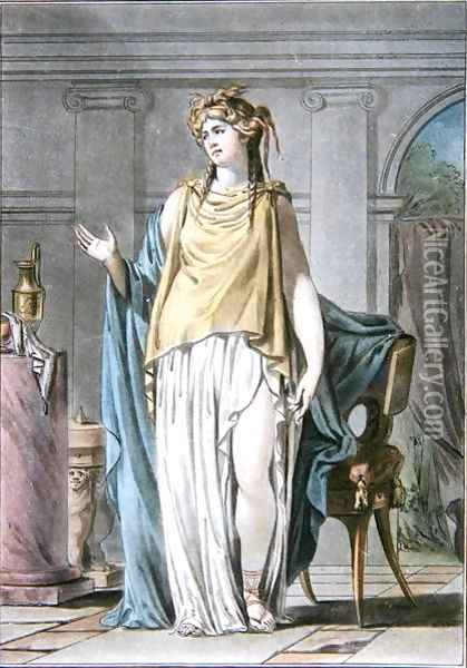 Hermione, costume for 'Andromaque', from 'Research on the Costumes and Theatre of All Nations' Oil Painting - Philippe Chery