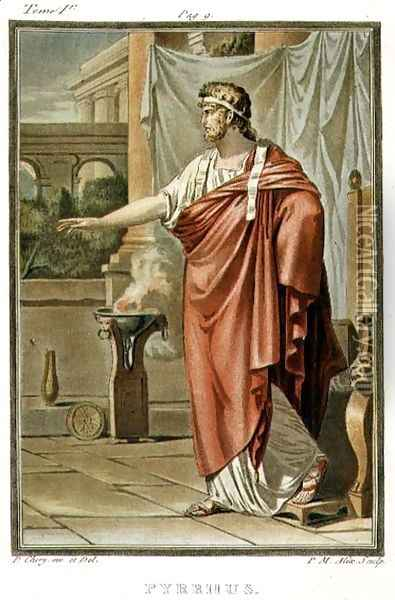 Pyrrhus, costume for 'Andromache', from Volume I of 'Research on the Costumes and Theatre of All Nations' Oil Painting - Philippe Chery