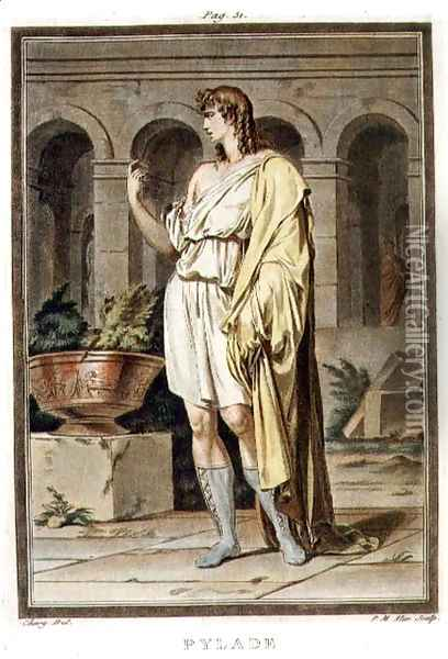 Pylades, costume for 'Andromache', from Volume I of 'Research on the Costumes and Theatre of All Nations' Oil Painting - Philippe Chery
