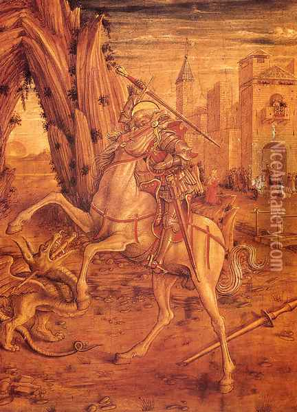 St. George And The Dragon Oil Painting - Carlo Crivelli