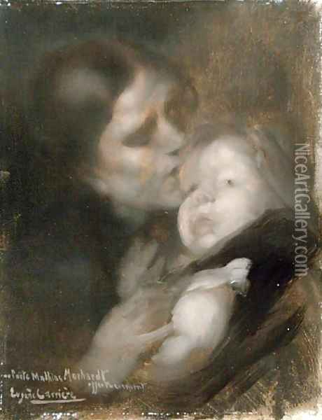 Mother and Child Oil Painting - Eugene Carriere