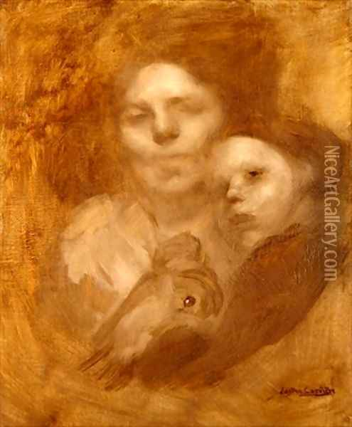 Mother and child 3 Oil Painting - Eugene Carriere