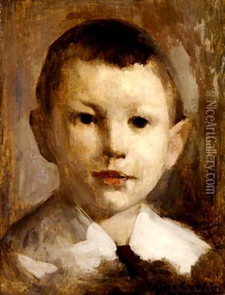 Study for the Portrait of Marcel Lacarriere Oil Painting - Eugene Carriere