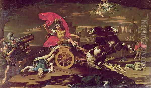 Achilles Dragging the Body of Hector around the Walls of Troy Oil Painting - Donato Creti