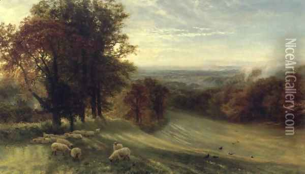 Autumn Morning Oil Painting - George Vicat Cole
