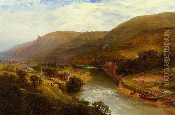 On the Tamar, Devon Oil Painting - George Vicat Cole