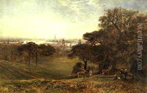 View of the Thames at Greenwich Oil Painting - George Vicat Cole