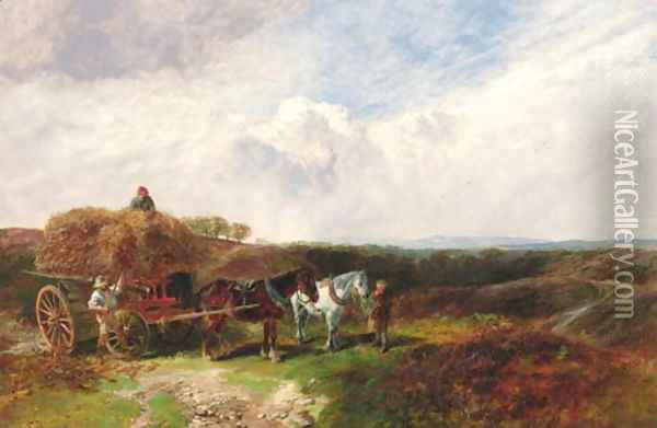 The Harvesters Oil Painting - George Vicat Cole