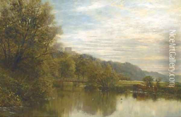 On the Arun Oil Painting - George Vicat Cole