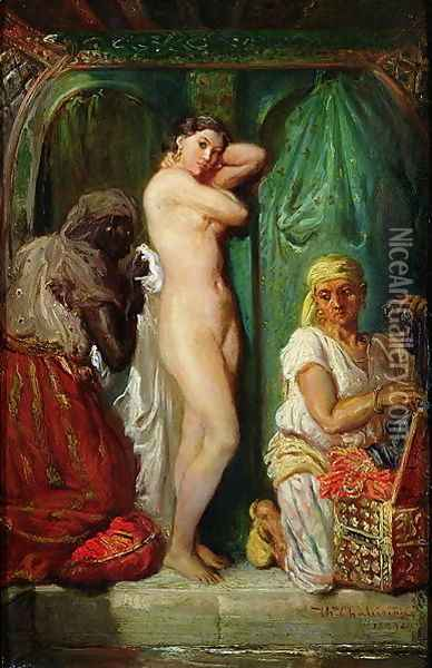 The Bath in the Harem 1849 Oil Painting - Francis Cotes