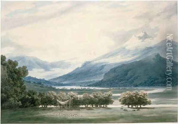 Bessanone, South Tyrol Oil Painting - John Robert Cozens