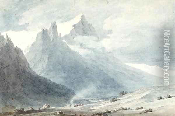 In the Canton of Unterwalden Oil Painting - John Robert Cozens
