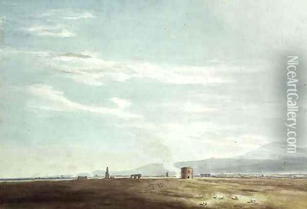 Landscape with Ruins Oil Painting - John Robert Cozens