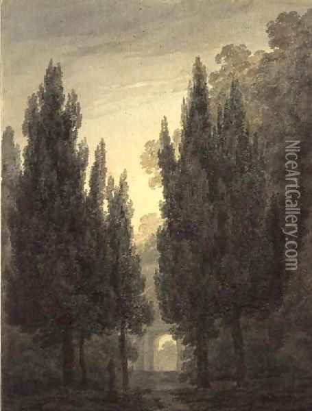 In the Gardens of the Villa Pamphili Oil Painting - John Robert Cozens