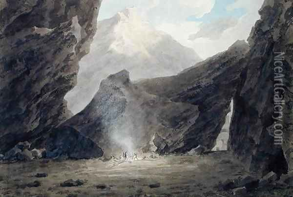 Near Chiavenna in the Grisons, c.1779 Oil Painting - John Robert Cozens