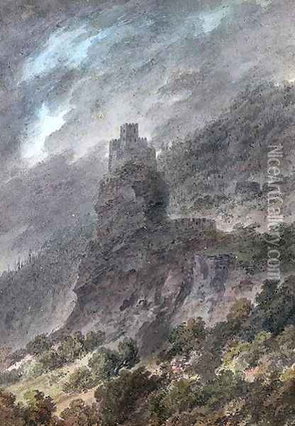 View of a Schloss between Bolzano and Trent Oil Painting - John Robert Cozens